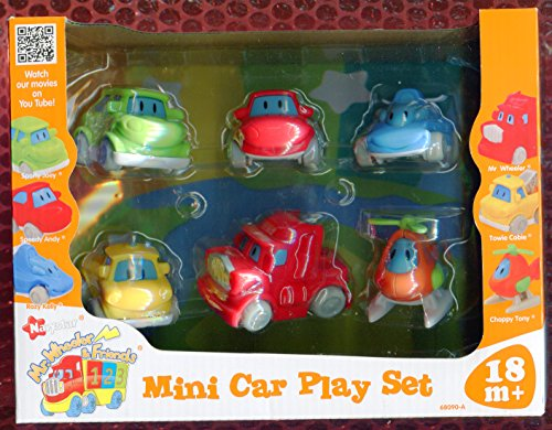 Mr Wheeler & Friends ** Mini Car Play Set ** 6 Cars - 1