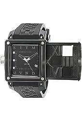 Ritmo Mundo Men's 501/3 SS Black Puzzle Slide Case Automatic Watch