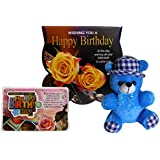 Birthday Gifts For Girlfriend - Birthday Greeting Card, Birthday Quotation, Soft Teddy