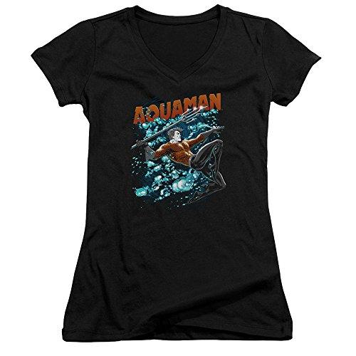 dc-comics-aquaman-whirlpool-juniors-v-neck-t-shirt-tee
