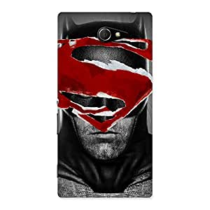 Special Black Red Forhead Back Case Cover for Sony Xperia M2