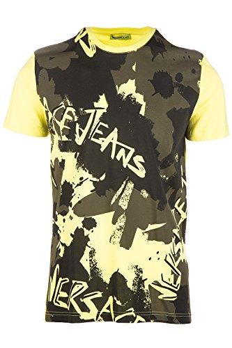 Versace Jeans t-shirt maglia maniche corte girocollo uomo luna slim giallo EU M (UK 38) B3GOA742 PRINT7