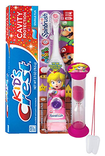 super-mario-girls-princess-peach-3pc-bright-smile-oral-hygiene-set-spin-toothbrush-crest-sparkling-t