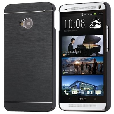 Motomo Premium Brushed Full Metal Protective Hard Back Case Cover For HTC One M7 - Black  available at amazon for Rs.249