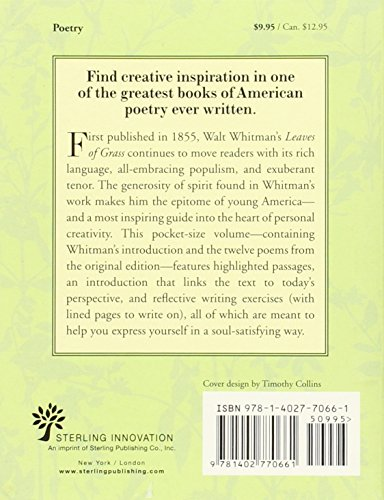 Leaves of Grass - The Original 1855 Edition: Bold-faced Thoughts on the Power and Pleasure of Self-expression