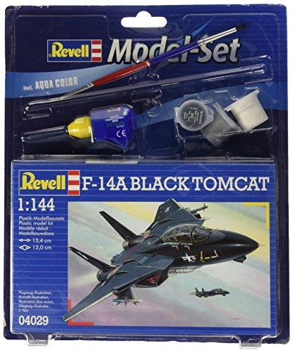Revell-Modellbausatz-64029-Model-Set-F-14A-Black-Tomcat-im-Mastab-1144