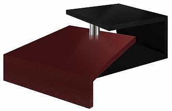 Regalwelt Turny Tavolo basso di design, colore: nero brillante Rubinrot Glanz