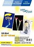100 Blatt A3 Overheadfolie (OHP Transparentfolie Transparentpapier) für Inkjetdrucker, Inkjet, schwarz/weiss Laserdrucker und Farblaserducker, Tintenstrahldrucker, schwarz weiss Kopierer und Farbkopierer