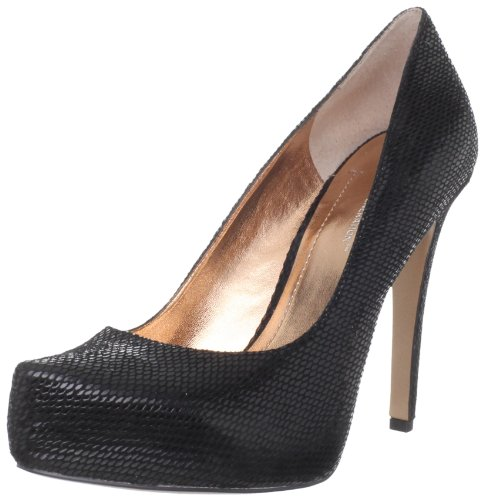 BCBGeneration Women's Parade Pump,Black/Sandalwood Snake,8.5 M US