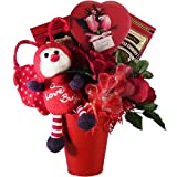 Love Bug Chocolate and Candy Gift Basket - Valentines Day