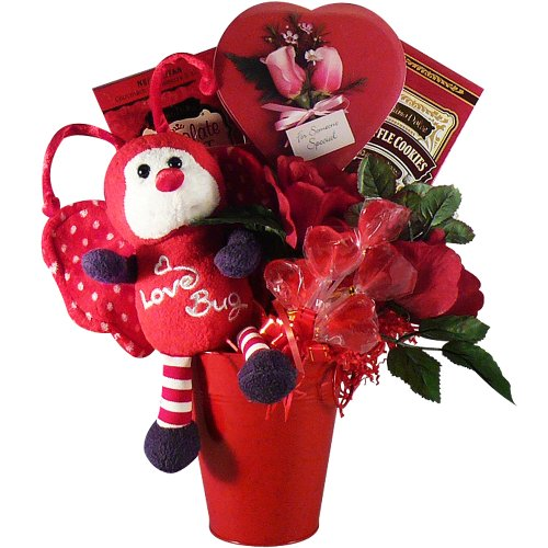 Love Bug Chocolate and Candy Gift Basket