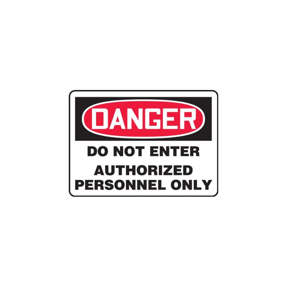 Legend NO TRESPASSING Red on White Accuform MATR521VA Aluminum Safety Sign 10 Length x 14 Width