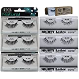 6 Pairs Combo Bundle Of Ardell Professional DEMI WISPIES (3 Pair) + Mighty Lashes By COTU (R) DW (1 Pair), WSP...