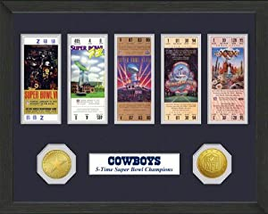 Dallas Cowboys Dallas Cowboys SB Championship Ticket Collection by Highland Mint
