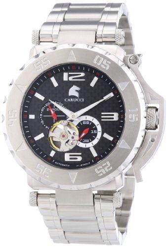 Carucci Watches  Teramo - Reloj de automático para hombre, con correa de acero inoxidable, color plateado