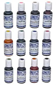 Ateco 1112 12-Color Food Coloring Kit (Set of 24) [Misc.]