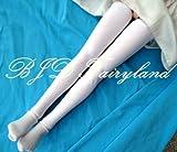 BJD long white socks stockings for 1/3 1/4 1/6 dolls (1/3 dolls)