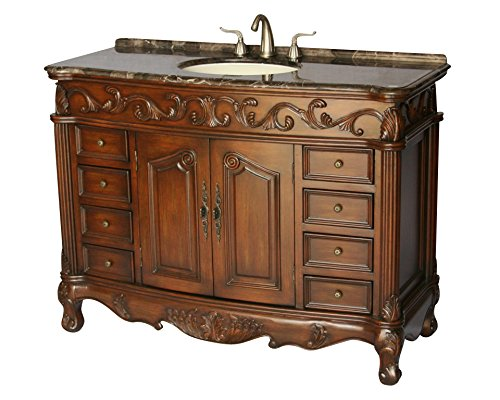 48 inch antique style single sink bathroom vanity model 3169 mxc for Bathroom vanities vintage style