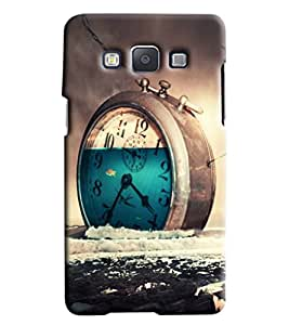 Blue Throat Clock Wasting Time Printed Designer Back Cover/ Case For Samsung Galaxy E5