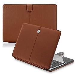12 inch MacBook (2015) CaseCrown Elite Folio Book Cover Case (Brown)