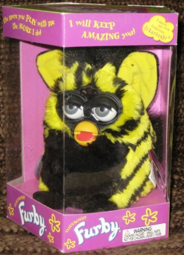Furby Model 70-800 Bumblebee Yellow + Black Electronic Furbie