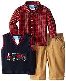 Good Lad Baby-Boys Newborn Train Applq Sweater Vest Pant Set, Navy, 6-9 Months