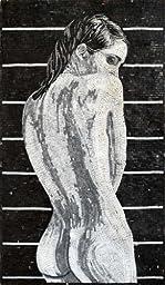 Mozaico - Naked Black and White Marble Mosaic Woman Decorative Tile Fantasy Design Art MS473