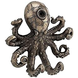 Steampunk Octopus Wall Hook Bronze