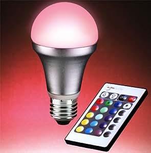 Auraglow ES E27 Screw Remote Controlled Colour Changing Light Bulb