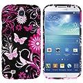 mumbi Schutzh�lle Samsung Galaxy S4 H�lle rosa Schmetterlinge