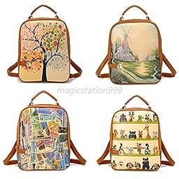 Women Fashion Bags Backpack School Shoulder Bag Rucksack PU Leather Travel Bag