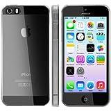 iHarbort Ultradünnen 0.5MM Schutzhülle iPhone 5 5S Hülle Hardcase harte Rückseite Klar Transparent mit Displayschutzfolie