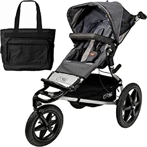 Mountain Buggy Terrain Jogging Stroller Flint with a Diaper Bag by Mountain Buggy
