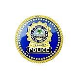 ポリスバッジ フロリダ州パームビーチ警察 モデル (ブルー)