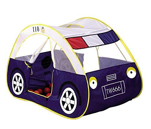 Zewik Kids Pop-up Play Tent Children Cartoon Police Car Canopy Kids Adventure Station by Zewik