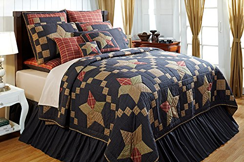 "4Pc Arlington Hand Quilted Queen Quilt Bedding Set 2 Shams 1 Burlap Pillow ""Simply Blessed"" 15% Discount front-4713"