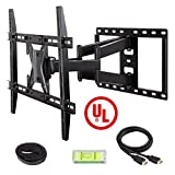 Mounting Dream MD2296 UL Certified TV Wall Mount Bracket with Full Motion Dual Articulating Arm for 42-70 Inches LED, LCD and Plasma TV