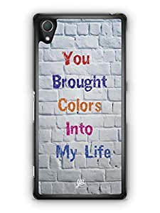YuBingo You Brought Colours Into My Life Mobile Case Back Cover for Sony Xperia Z2