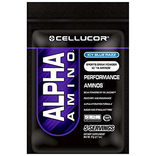 Cellucor  Alpha Amino BCAA Supplement, Icy Blue Razz, 5 Count