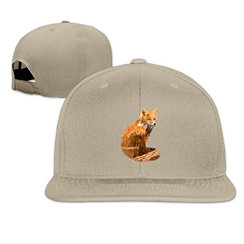 LINNA Custom Unisex Double Exposure Fox With Nature Flat Billed Hiphop Visor Cap Natural (Nike Shoes Ninja Turtles compare prices)