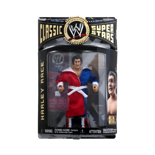 WWE - Harley Race Figure - Classic Super Stars - Collector Series #10 - Includes Robe - Wrestlemania Ticket Promotion - Mint - Collectible - (O) by Jakks Pacific (Sweet Ticket compare prices)