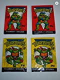 Teenage Mutant Ninja Turtles 1989 Topps Cello Pack Lot (4) Unopened Packs of Trading Cards Tmnt