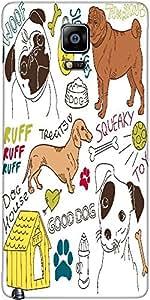 Snoogg I Love Dogs Vector Doodles Set Designer Protective Back Case Cover For...