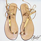 Bridget Sandals of Jamaican - KAY GOLD - SIZE 7