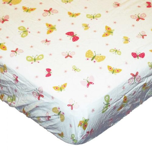 Kidsline Tiger Lily Crib Bedding Collection - Fitted Crib Sheet - 1