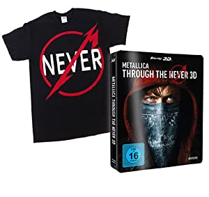 METALLICA - Through the Never (Steelbook) [3D Blu-ray inkl. 2D] - Special Edition (mit T-Shirt, Gr. XL) (exklusiv bei Amazon.de) [Limited Edition]