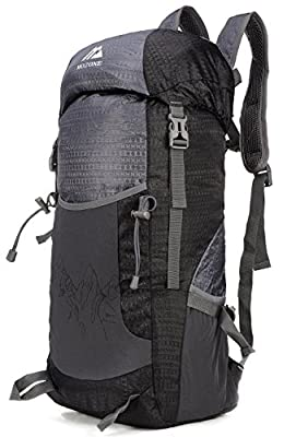 Mozone Large 40l Lightweight Travel Water Resistant Backpack/foldable & Packable Hiking Daypack