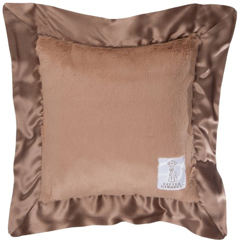 "Little Giraffe Luxe Pillow, Mocha, 14"" x 14"""