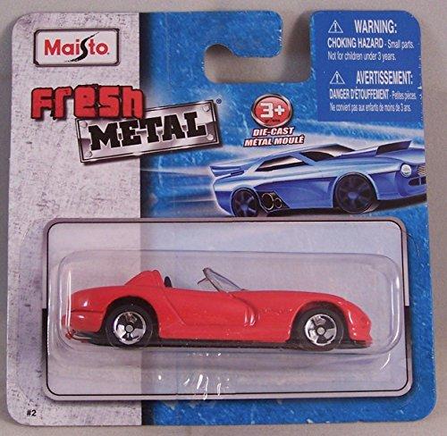 Maisto Fresh Metal Die-Cast Vehicles ~ 1997 Dodge Viper RT10 (Red)