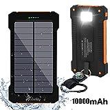 Solar Ladegerät 10000mAh Hiluckey Dual USB Schnittstelle Externer Akku tragbar